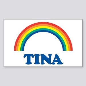 TINA (rainbow) Rectangle Sticker